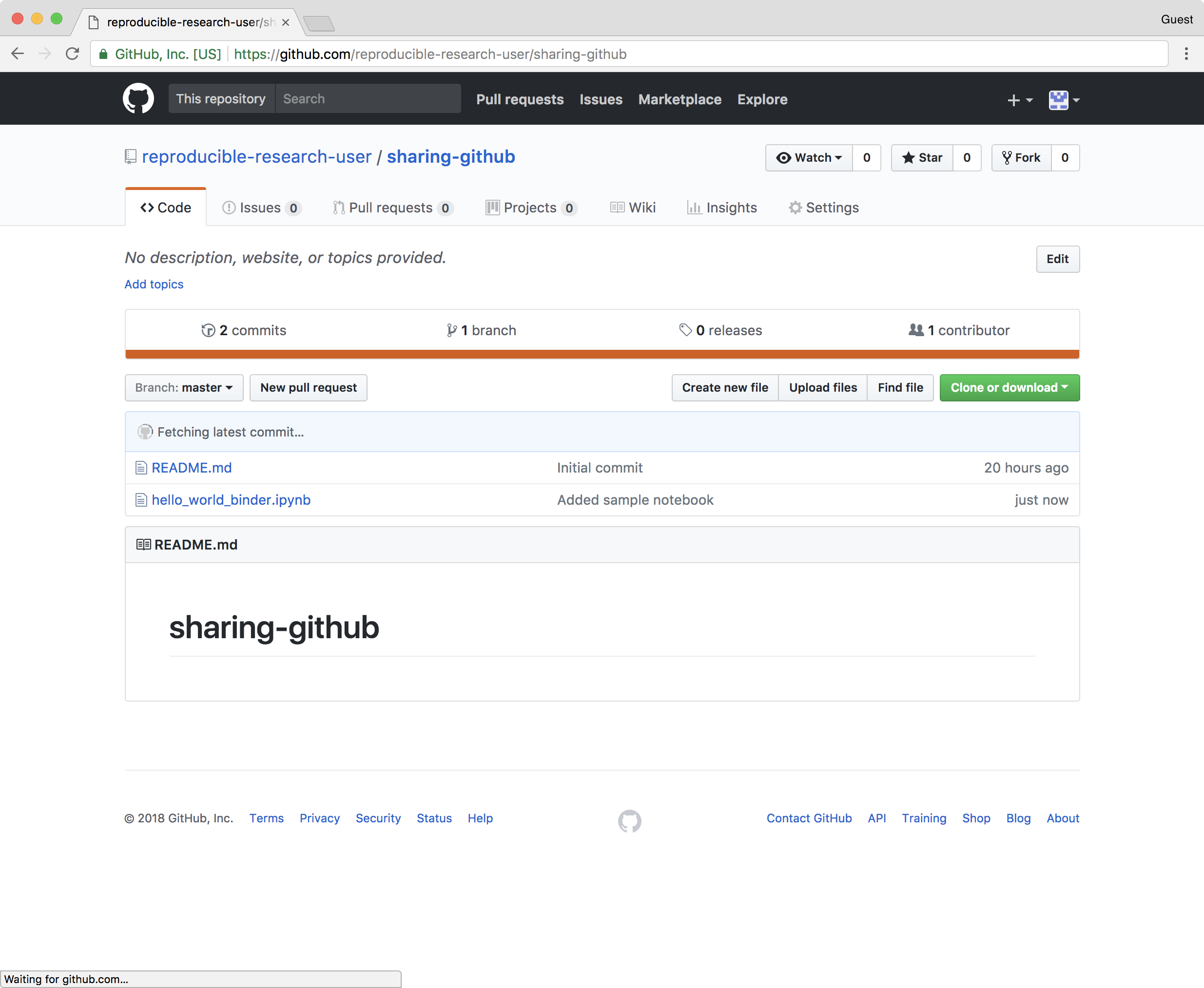 Sharing Jupyter Notebooks: Sharing Jupyter Notebooks using GitHub